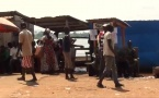 Le Boulevard Charles De Gaulle au bord de l'Oubangui, menacé par l'inondation