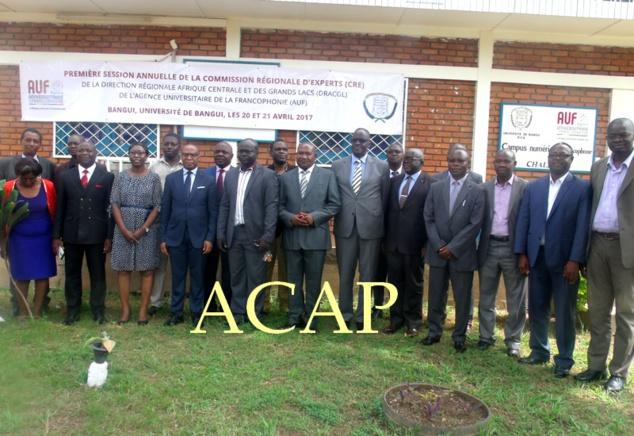 Les participants à la première session de la CRE