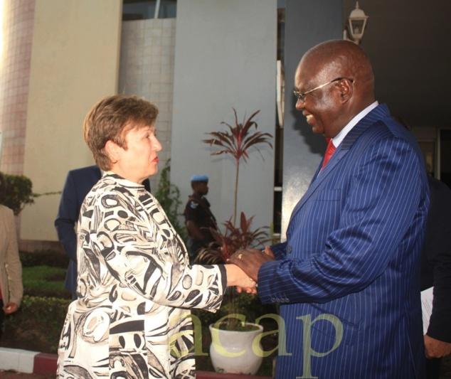 La Directrice exécutive de la Banque mondiale, Kristalina Georgieva, effectue une mission de travail en Centrafrique