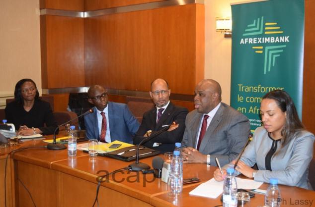 Le président d'Afreximbank lors de sa conférence de presse