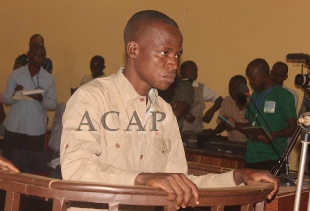 """Rodrigue Ngaïbona alias """"Général Andjilo"""" devant les assises, le 11 janvier 2018 à Bangui"""