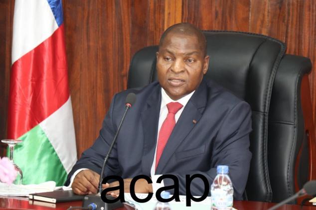 Faustin Archange Touadéra présidant le Comité interministériel du RCPCA, jeudi 15 février, à Bangui