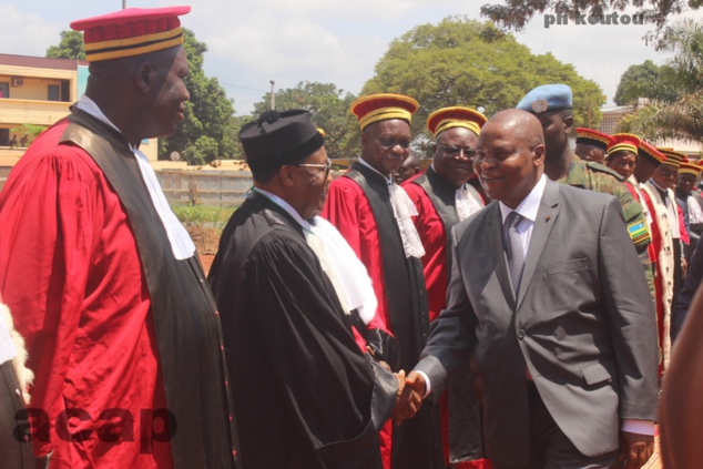 Organisation à Bangui de la Rentrée solennelle des Cours et des Tribunaux