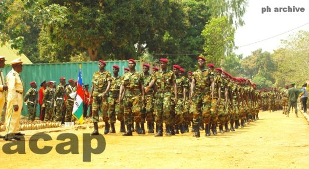 Les militaires en fin de formation
