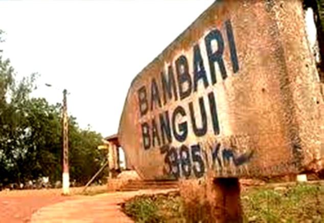 Vue d'une partie du centre ville de Bambari