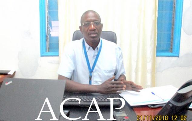 Le chef de bureau du HCR de Berbérati, Sidi Dicko