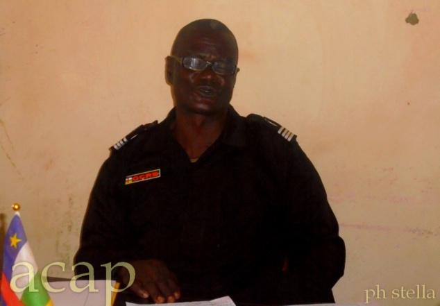 le commandant  Jean Yves Baba-Kangui, de l'OCRB de Ngouciment