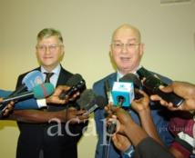 Arrivée à Bangui de Jean-Pierre Lacroix et de Smaïl Chergui
