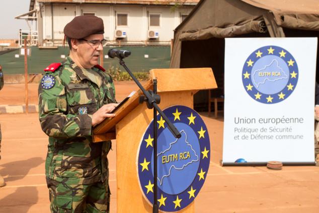Le général Herminio Maio, lors de la cérémonie de passation