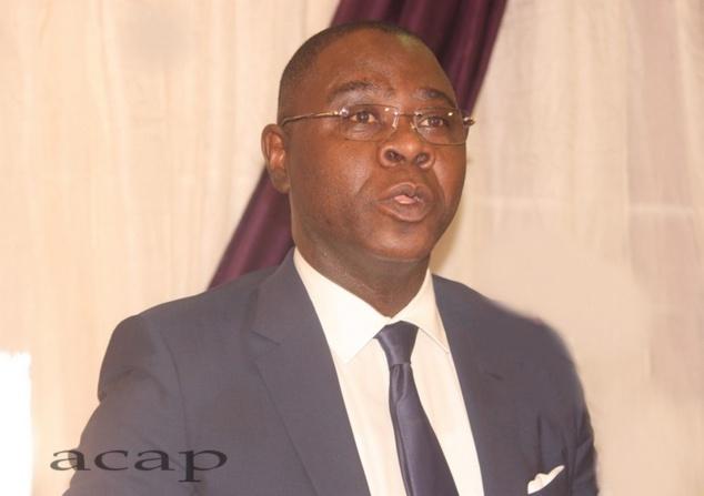 Henri-Marie Dondra s'exprimant devant le comité monétaire, le 19 mars 2019 à Bangui