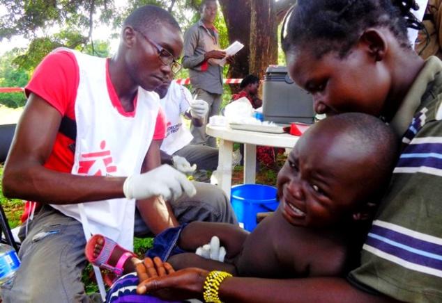 Scène d'intervention du personnel centrafricain de MSF