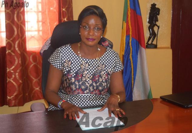 La ministre de l'Action humanitaire et de la Réconciliation nationale, Virginie M'baïkoua