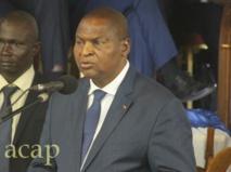 Le président Touadéra lance à Bangui un projet de renforcement des capacités d'action de l'administration