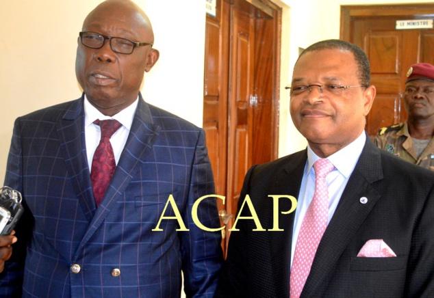 MM. Félix Moloua et Fortunato Ofa Mbo Nchama,