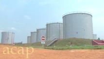 Vue générale du dépôt de Kolongo, avec (au fond à gauche) le 15ème bac