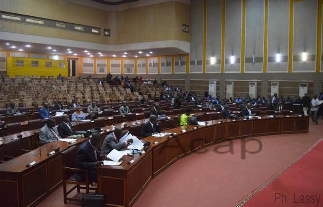 Vue de l'hémicycle de l'Assemblée nationale, lors d'une séance plénière (archives ACAP)