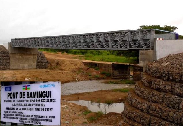 Le pont sur le Bamingui dans le Bamingui Bangoran
