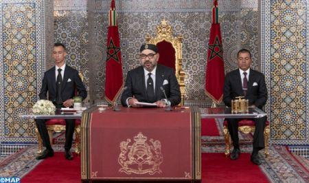 Le Roi Mohamed VI pendant son discours