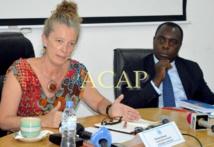 Mme Denis Brown, coordonnatrice humanitaire en République centrafriacine et M.François Batalingayo, chef du bureau OCHA