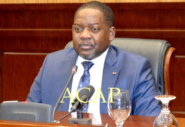 Le Premier-ministre Firmin Ngrébada (archives Acap)