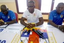 Bruce Abdoulaye lors de sa conférence de presse