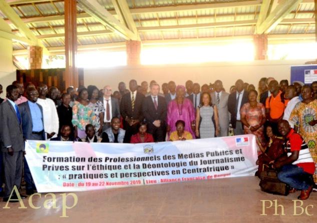 Les professionnels des médias centrafricains à l'école de l'éthique et de la déontologie du journalisme