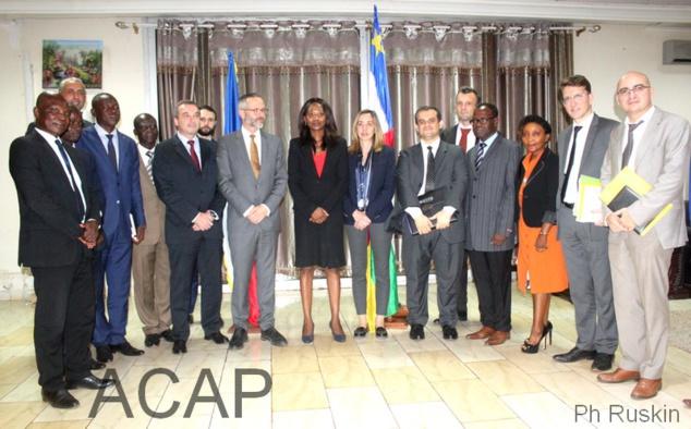 La première session  de dialogue politique bilatéral franco-centrafricain à Bangui