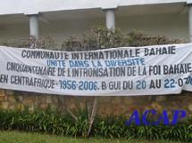 50ème anniversaire de la Foi Baha'ïe en Centrafrique.