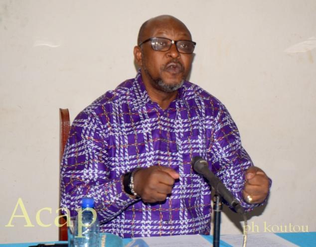 ministre de la Communication et des Média porte-parole du gouvernement Ange-Maxime kazagui