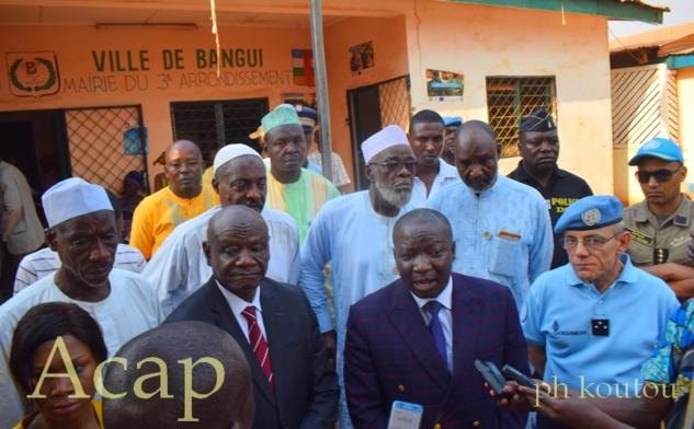 Le ministre de la Sécurité publique échange avec les notables du 3ème arrondissement de Bangui