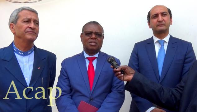 Visite du chantier de réhabilitation du centre national hospitalier universitaire de Bangui