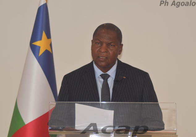 Le Président Touadéra