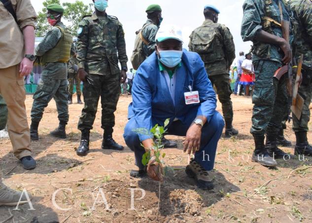 Président Touadéra procède au planting