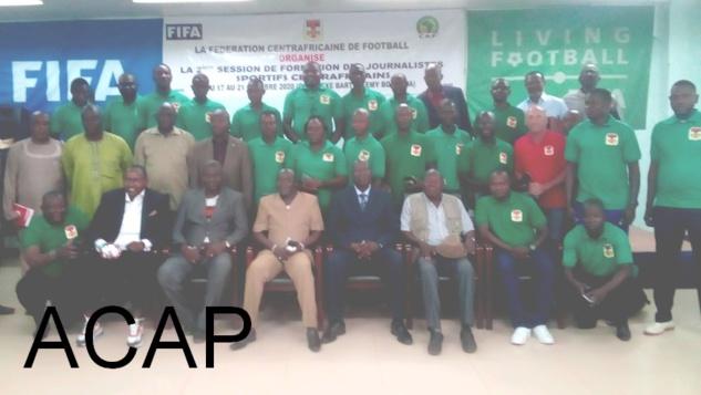 Des journalistes sportifs  centrafricains en  session de formation