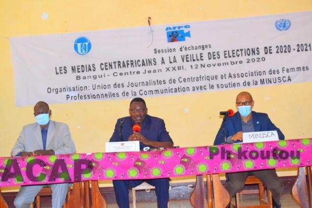 Session d'échanges des médias centrafricains à la veille des élections