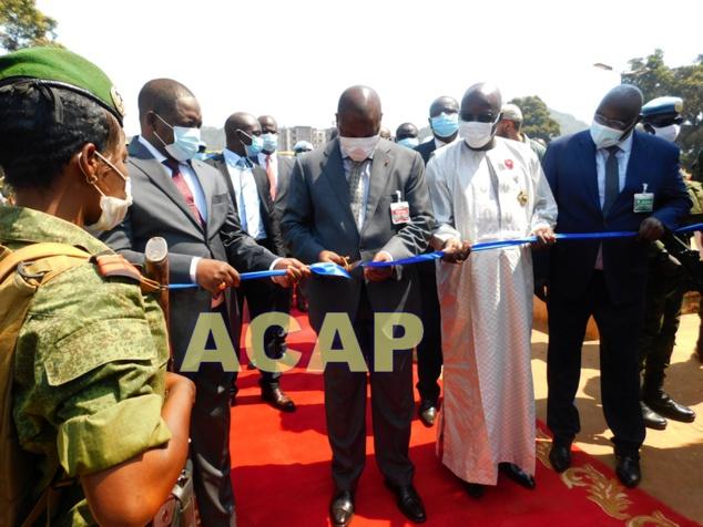 Le Chef de l'Etat inaugure le nouveau siège du Bureau d'Affrètement Routier Centrafricain