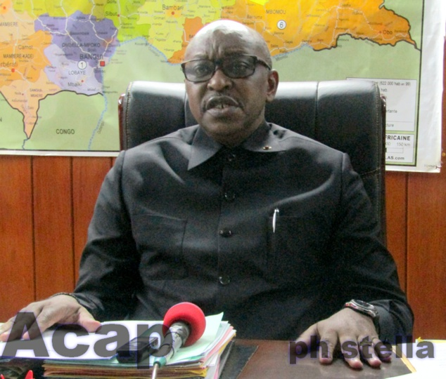 Le Ministre Ange Maxime Kazagui fait le point des préparatifs de la cérémonie d'investiture du président Touadéra
