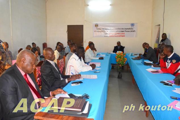 Clôture de la session de formation des journalistes de l'Agence Centrafrique Presse