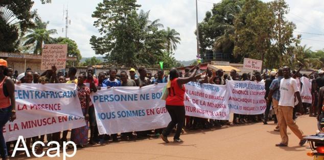 Marche pour la paix en Centrafrique