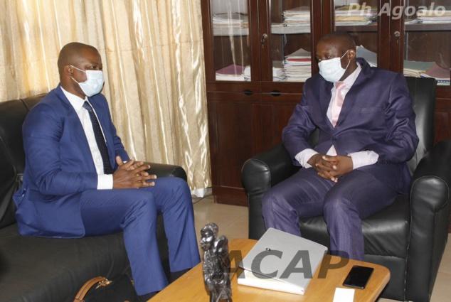 Le Ministre de la Communication et des Média reçoit en audience le Directeur régional de Côte Ouest Audiovisuel