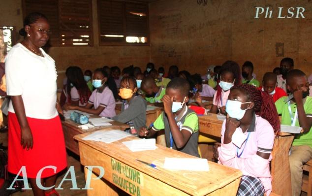 Plus de 1.500 candidats participent au concours d'entrée en 6ème session de juillet 2021 au Lycée Marie-Jeanne Caron de Bangui