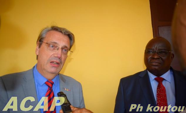 Le Ministre de la Justice s'entretient avec l'Ambassadeur de France en Centrafrique