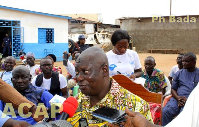 Visite de travail dans les marchés de Km5 dans le 3ème arrondissement de Bangui