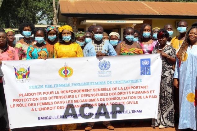 Les femmes parlementaires de Centrafrique en atelier de plaidoyer
