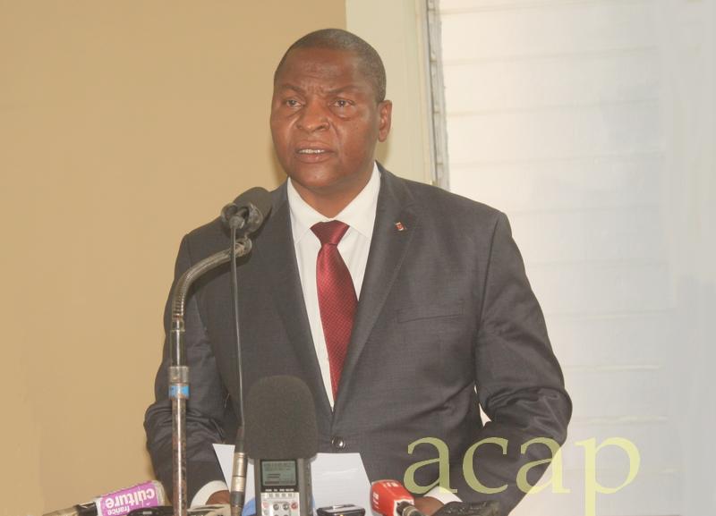 Le Président Faustin Archange Touadéra (archives ACAP)