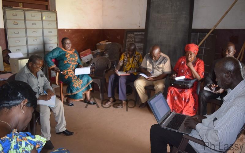 Les participants à la réunion sur la Recherche action sur la mesure des apprentissages
