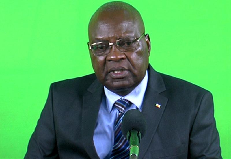 Le Premier-ministre Simplice Mathieu Sarandji