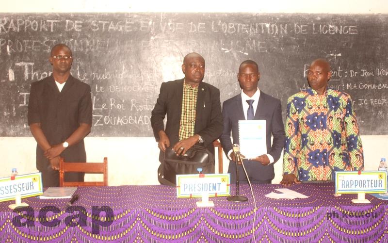 Soutenance à Bangui du rapport de stage par les étudiants de la  6ème promotion du DSIC