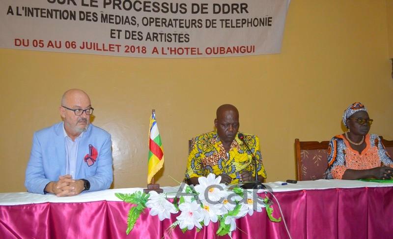Clôture à Bangui des travaux de l'atelier sur le programme de désarmement des groupes armés