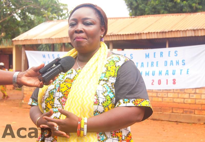 La ministre de la Promotion de la femme, de la Famille, et de la Protection de l'Enfant, Aline Gisèle Pana